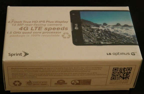 LG Optimus G box