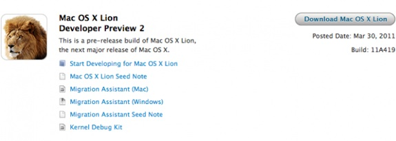 Mac OS X Lion Developer Preview 2