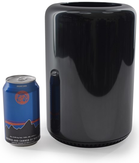 Mac Pro with soda can