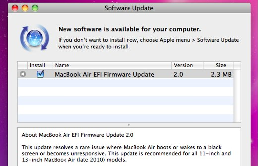 macbook air efi 2.0