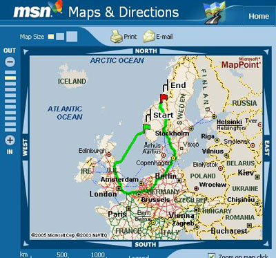 MapPoint Norway Directions
