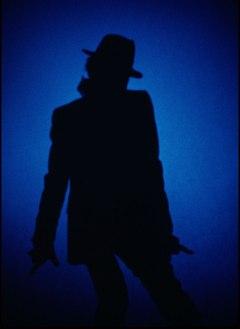 Michael Jackson Blue SIlhouette