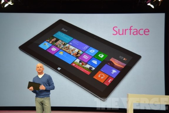 Microsoft Surface keynote spoken by Steve Ballmer
