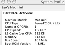 Mac mini Overclock