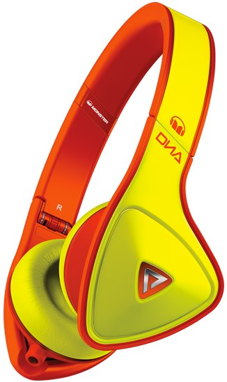 Monster DNA Neon yellow orange headphones
