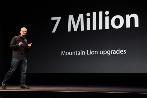Apple Mountain Lion 7 million