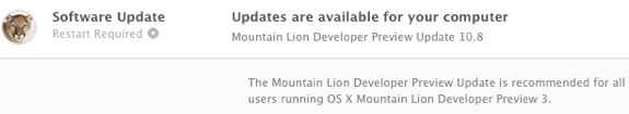 Mountain Lion Preview 3 update