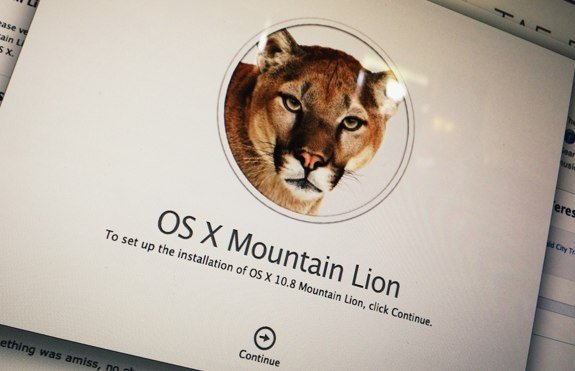 OS X Mountain Lion installation