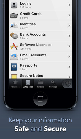 1Password 4 iPhone app