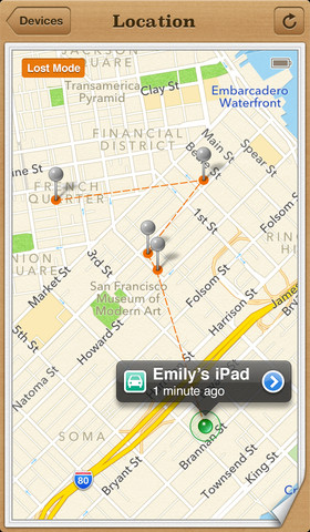 Find My iPhone App Version 2.0.1