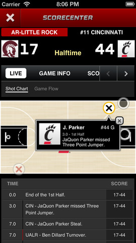 ESPN Score Center iOS app version 3