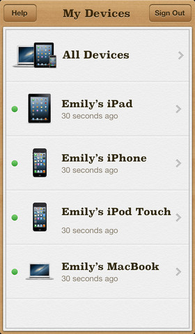 Find My iPhone Version 2.0.1 (2)