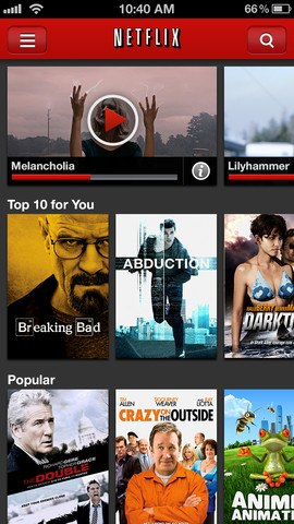 Netflix iPhone 5 iOS 6 update