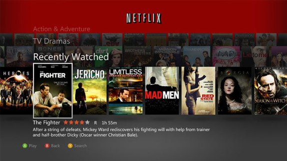 Netflix xbox 360 update