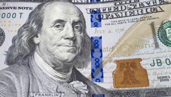 New blue $100 bill
