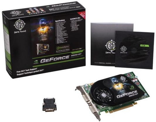 Newegg promo code BFG Tech GeForce 9800 GT