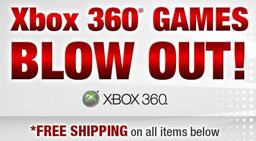 Newegg Xbox 360 game clearance
