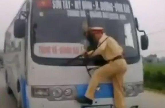 Vietnamese police bus driver