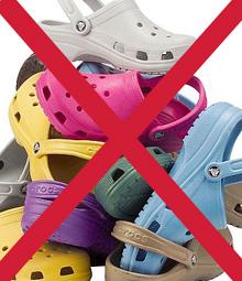 No Crocs