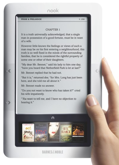 Barnes &amp; Noble Nook e-reader