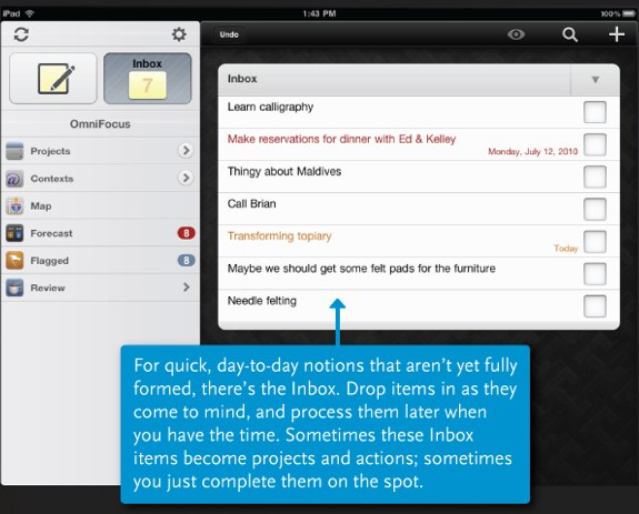 OmniFocus for iPad