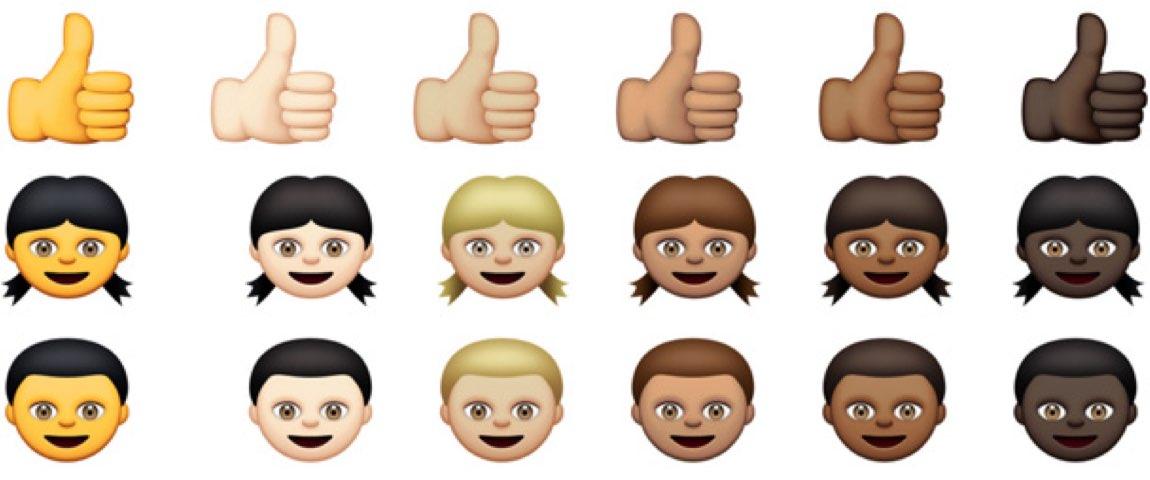 OS X 10.10.3 emoji diversity