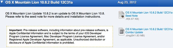 Mountain Lion 10.8.2 12c31a