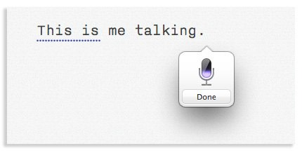 OS X Dictation