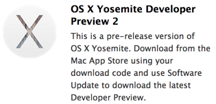 OS X Yosemite Developer Preview 2