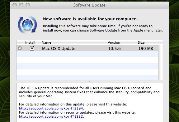 Mac OS X 10.5.6
