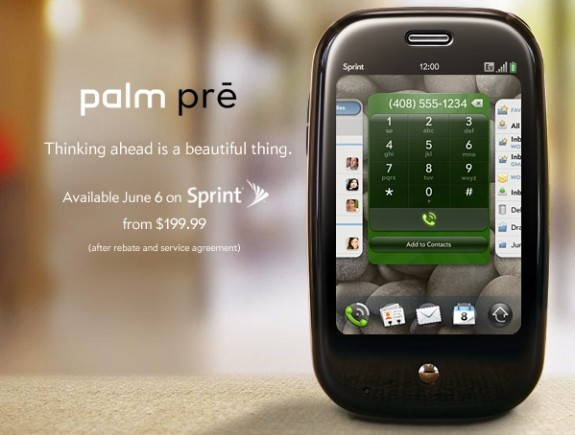 Palm Pre June 6 launch