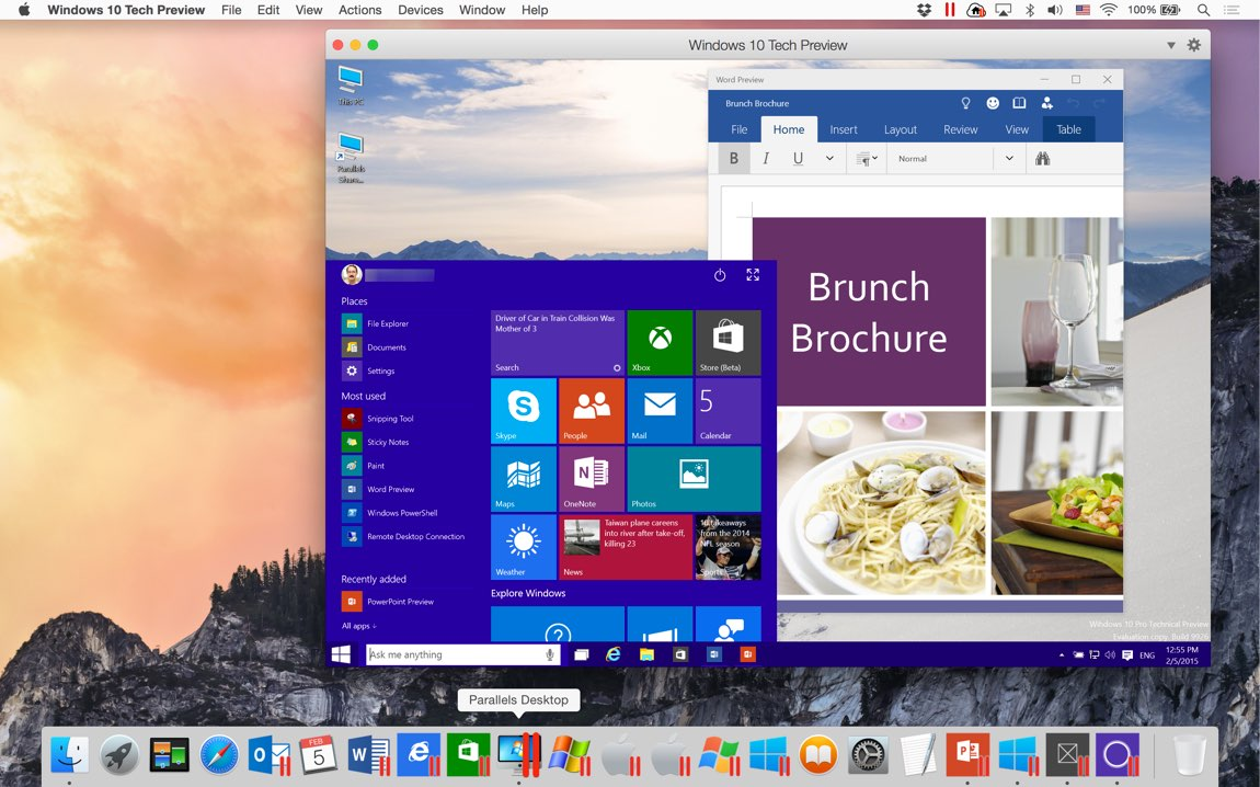 Windows 10 Parallels Mac