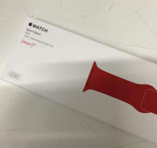 (Product) Red Apple Watch Sport Band