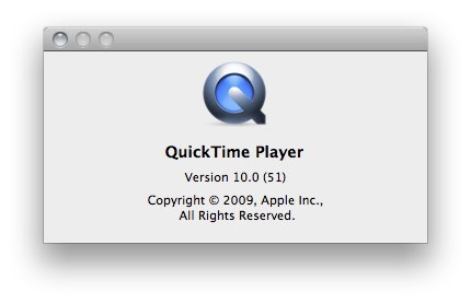 Quicktime 10 build 51