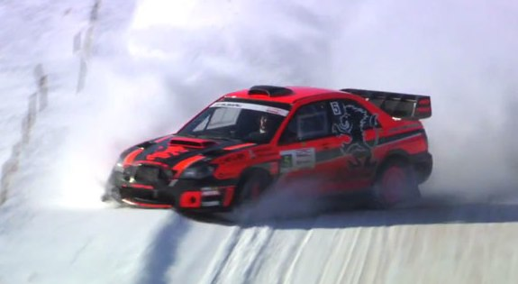 Rally car crash video