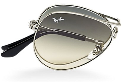 Ray-Ban foldable aviators