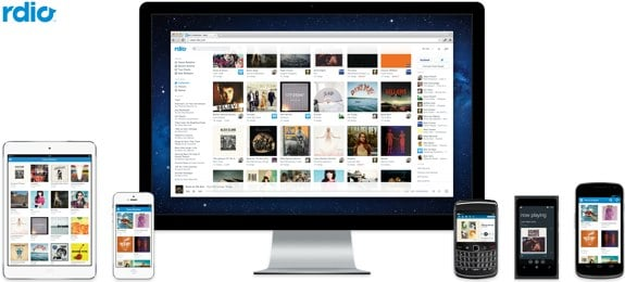 rdio subscription holiday gift