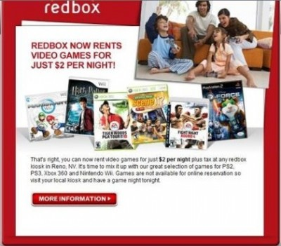Redbox offering video games