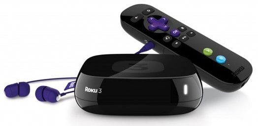 Roku 3 with Remote headphones