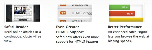 Safari 5 features