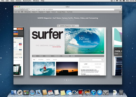 Safari Tab View