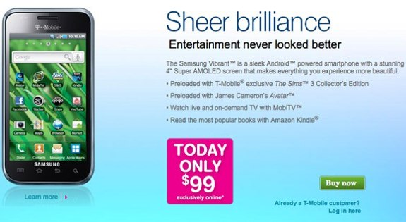 Samsung Vibrant sale