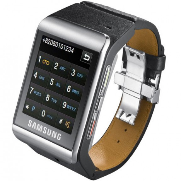 Samsung S9110 newest 2g watch phone has touchscreen