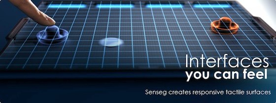 Senseg haptic iPad