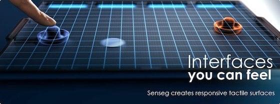 Senseg haptic iPad