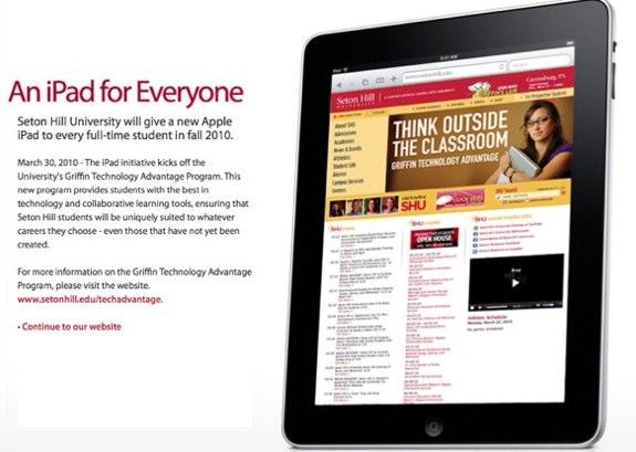 Seton Hall University iPads