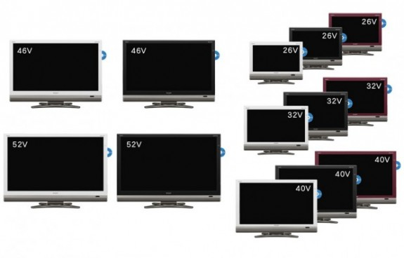 Sharp's 13 new LCD TVs with built-in Blu-ray Recorders