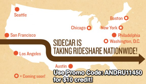 SideCar Promo Code