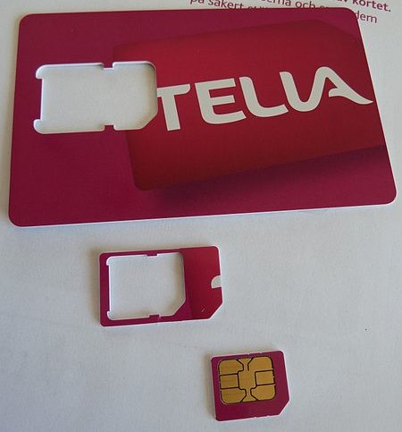 Tella SIM card punch card