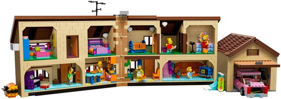 The Simpsons House LEGO open